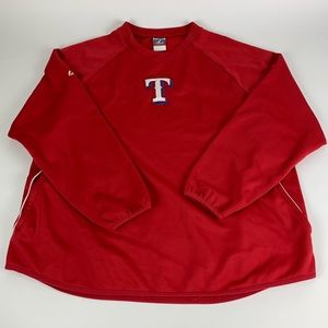 Texas Rangers MLB Majestic Therma Base Pullover